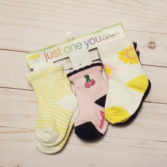 Carter/'s 3 Pairs Baby Girl/'s Socks Size 3-12 Month